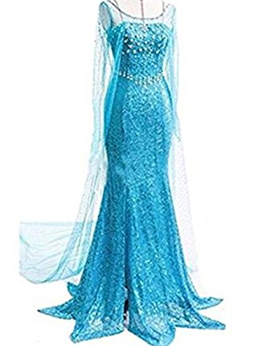 ss Snow Queen Fancy Style Dress Cosplay Costume Kleider (Erwachsene Cinderella Kleider)