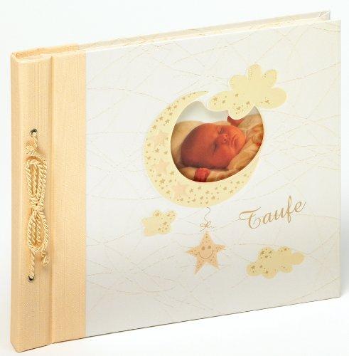 Walther MT-114 Babyalbum Meine Taufe Bambini, Kodelbindung mit Ausstanzung zur persönlichen Gestaltung, 60 weiße Seiten, 1 Seite Textvorspann 25 x 28 cm beige
