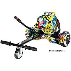 SmartGyro Go Kart Pro Street - Asiento Kart para patín eléctrico, Convierte tu Hoverboard en un Kart, Universal, Color Street