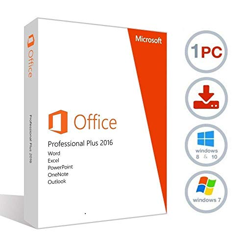 Price comparison product image MIcrosoft Office 2016 Professional Plus (Digital delivery only key and download ) Lifetime license for 1PC 1User