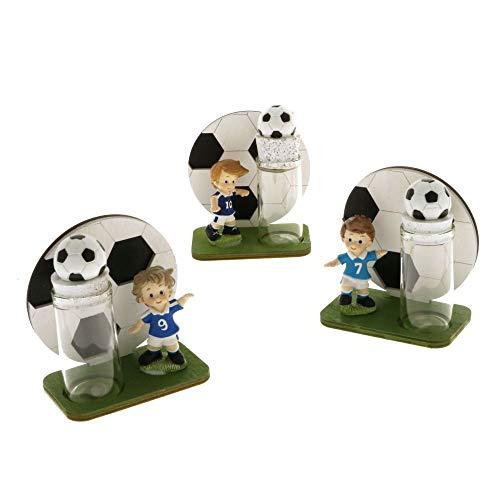 1 pz calcio pallone con calciatore e provetta portaconfetti bomboniera