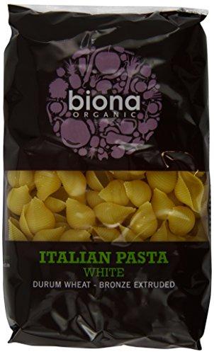 Biona Organic Wheat Pasta White Conchiglie 500g (Pack of 12)