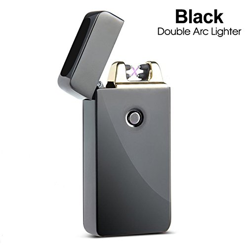 lighter-electric-usb-rechargeable-cigarette-lighter-windproof-flameless-black