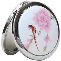 Leisial Espejo de Mano Espejo Plegable Portátil con Doble Cara Pequeño Espejo de Bolsillo Espejo de Maquillaje para Viaje Maquillaje Regalos