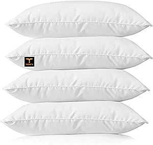 "Aditya home decor Cotton Bed Pillow, 16"" x 24"", White - Set of 4 Pillow"