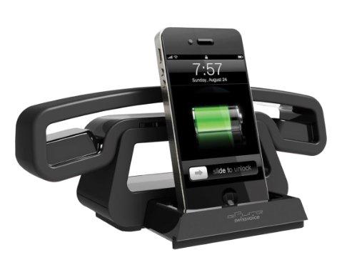 Swissvoice BH01i schnurloses ePure-Handteil für Mobiltelefon, PC, Tablet mit ausziehbarer Ladestation für iPod/ iPhone 3/4/4s