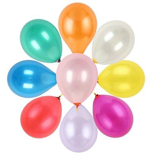 knowing Runde Luftballons Partei Luftballons Hochzeitsballon Bunte dekorative Ballons für Hochzeitsfest Geburtstags-Jahrestags 100er Misch Farbe