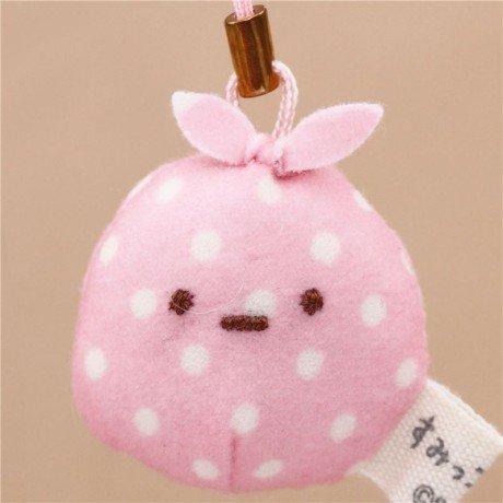 Preisvergleich Produktbild Kawaii rosa Sumikkogurashi Beutel Furoshiki Plüsch-Anhänger