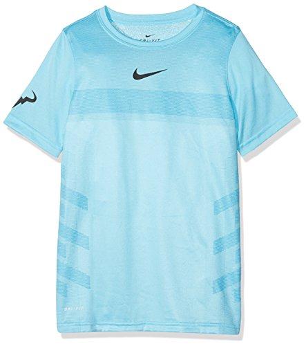 Nike AO2959 T-Shirt Garçon, Lagoon Pulse/White, FR : S (Taille Fabricant : S)