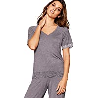 9bd54fbf054 Debenhams J by Jasper Conran Womens Grey Lace Trim  Frost  Pyjama Top