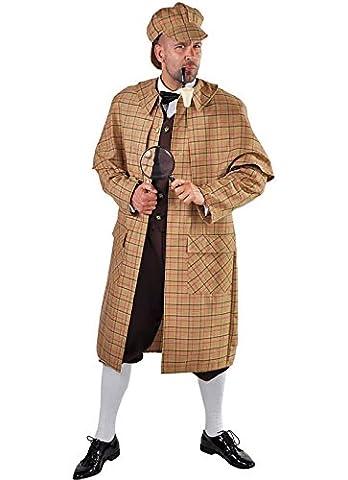 Sherlock Detektiv Kostüm Theaterkostüm Karneval S-XXL (S) (Watson Sherlock Holmes Kostüm)