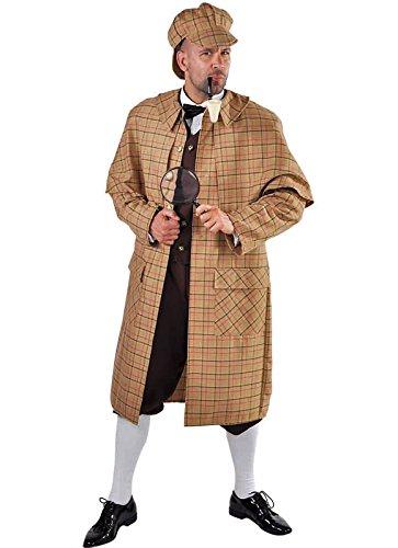Panelize Sherlock Detektiv Kostüm Theaterkostüm Karneval S-XXL - Holmes Und Watson Kostüm