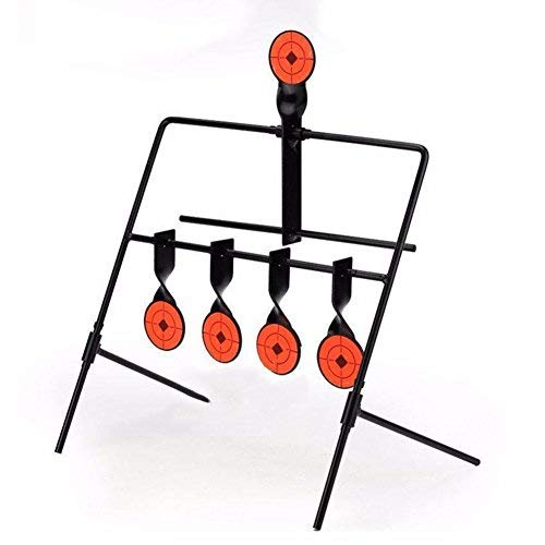 DECHO-C Tactical 5-Plate Zurücksetzen Shooting Target Spinner Ziel Jagd Shooting Target Metall Stahl Auto Reset Ziele Paintball Bogenschießen Slingshot BB Pistole -