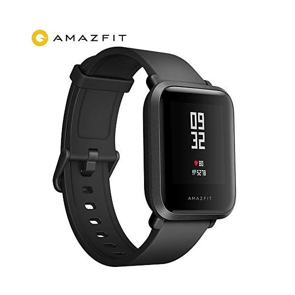 AMAZFIT Bip Smartwatch Monitor de Actividad Pulsómetro Ejercicio Fitness Reloj Deportivo (Versión Internacional) Negro… 2
