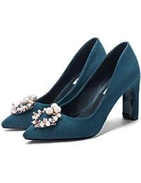 14df38be38631 Scarpe col Tacco Estate Donna Court Party Shoes Punta Aguzza Bocca  Superficiale Sottile Tacchi Alti Pompa Sandali Tacco Alto di Gregge…