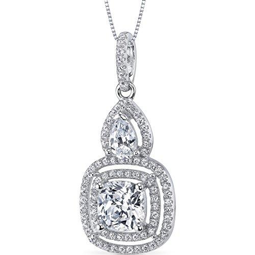 Diamant Anhänger mit Halskette 925 Sterlingsilber,46cm
