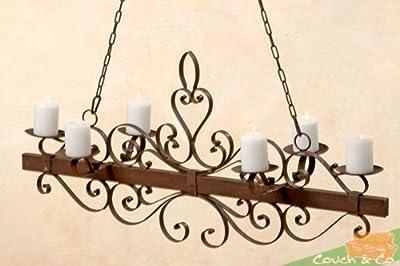 romantischer Kerzenleuchter/Deckenleuchter aus Metall -Antikoptik-