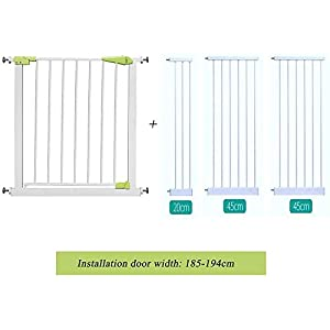 Child Safety gate - Free Punching - Height 76cm - Installed on The Stairway/Kitchen Door - Baby/pet Isolation Door ccgdgft (Size : 185-194CM)   4