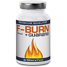 GloryFeel F-BURN - Grüner Tee plus Grüner Kaffee und Guarana Extrakt - 120 Vegane Kapseln - Ohne Magnesiumstearate