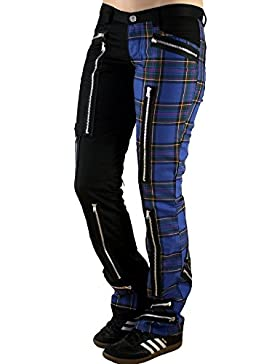 Nix Gut Tartan, Pantalón de Mujer en Estilo Slim fit, Color Negro/Azul
