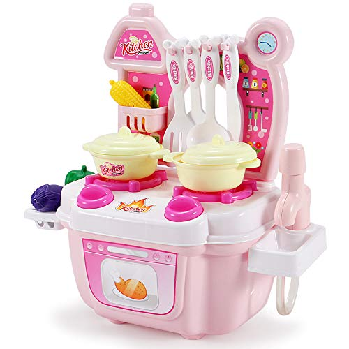 WE-WIN Kinder Küche vortäuschen Spielen Spielzeug Küche Besteck Tisch Spielzeug-Simulation...