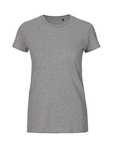 Damen-bio-baumwoll-jersey (Green Cat- Ladies Fitted T-Shirt, 100% Bio-Baumwolle. Fairtrade, Oeko-Tex und Ecolabel Zertifiziert, Textilfarbe: grau, Gr.: XXL)