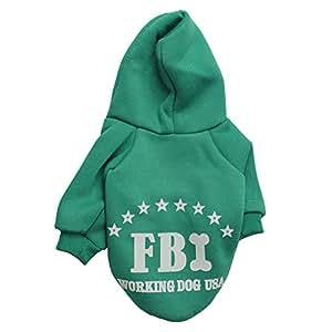 Demarkt Fashion Vêtements/ Manteau/ Veste/ Capuche avec Dessin FBI pour Petit Chien et Chiot - Taille S - Couleur Bleu (Beaucoup de Couleurs Disponibles)