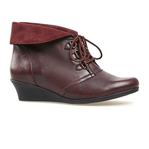 Van Dal Womens Wedge Ankle Boot Wylie in Port