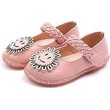 7434160ea77887 ☺HWTOP Sandalen für Mädchen Kleinkind Kind Baby Mary Jane Halbschuhe  Karikatur Blume Einzelne Prinzessin Schuhe