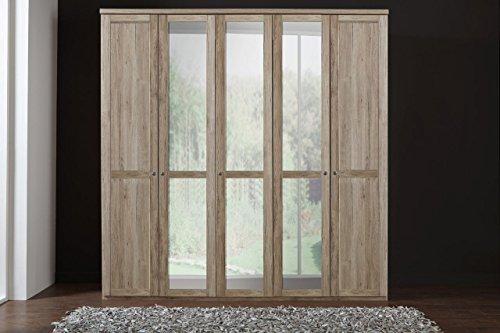 Drehtrenschrank-Kleiderschrank-Spiegeltren-Wscheschrank-Schlafzimmerschrank-Schranksystem-Aufbewahrung-San-Remo-Eiche