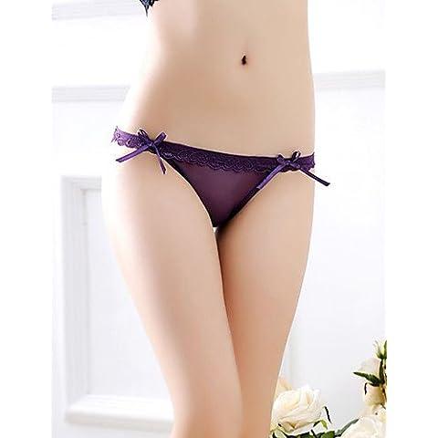 Da wu jia Ms. intimo donna Rachel filati di seta e trasparente a forma di cuore mutandine , fucsia-one-size , fucsia-one-size