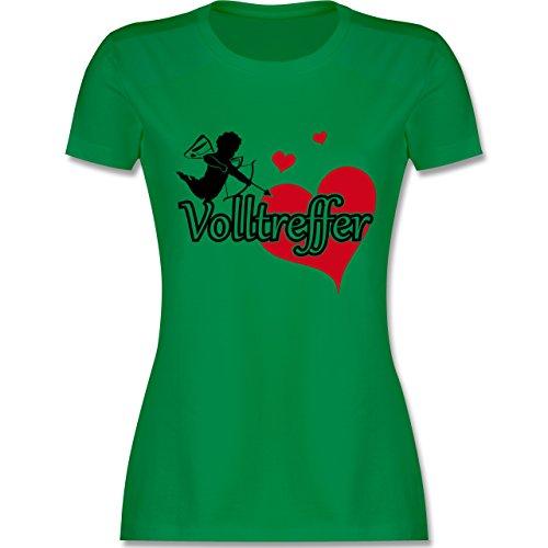 Kostüm Cupid Zubehör - JGA Junggesellinnenabschied - Volltreffer - M - Grün - L191 - Damen Tshirt und Frauen T-Shirt