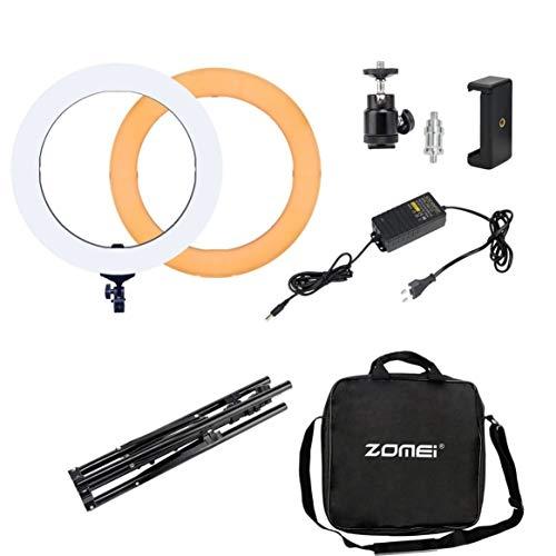 ZOMEI-Camera-PhotoVideo-Esterno-240-Pezzi-LED-SMD-Anello-Light-Ring-Video-Light-50CM-Supporto-pieghevole-Set-spina-europea