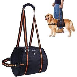 PETBABA Hundegeschirr Tragehilfe, Hebehilfe Rehabilitation Hunde Geschirr mit Griff für Hunde Verletzungen und Arthritis S