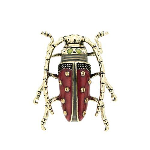 Sweet Deluxe Brosche Käfer, antiksilber/Purple I ausgefallene Blusenbrosche für Damen & Mädchen I Frauen-Brosche für Abendkleid & Bluse I Anstecknadel