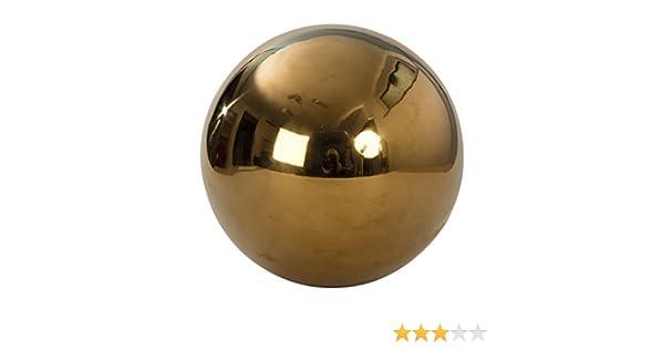 Mel O Design Sfera Decorativa Sfera oro in acciaio Diametro 25 cm