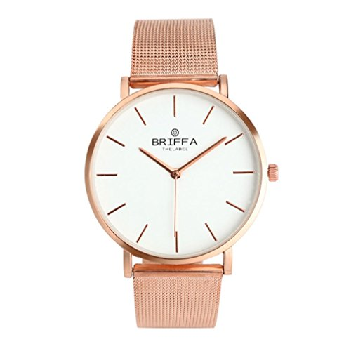 Ouneed® Uhren , Mode Mädchen Damen Kristall-Edelstahl-Analog-Quarz-Armbanduhr (Roségold)