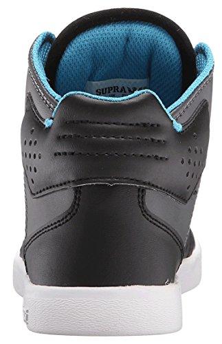 Supra-Atom-Scarpe da ginnastica alte, da ragazzo Multicolore (Nero carbone)