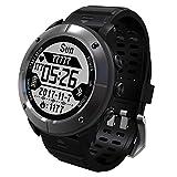 MRXUE Smart Watches für Ios Android Smartphone (Hiking/Running/Marathon/Mountaineering/. 7 Sportmodi), Beidou + GPS + GLONASS,Gray
