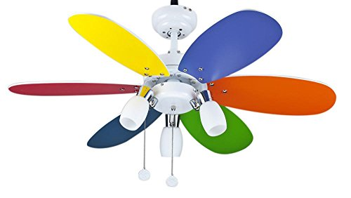 Interfan Parchís - Ventilador de techo, multicolor