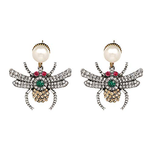 Bienenen-Kristall-Ohrringe, Party-Schmuck, Accessoires, niedliche Perle, für Frauen, mehrfarbig