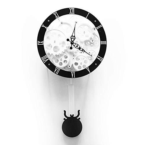 BGGZXX Reloj de Pared del Engranaje Relój de péndulo, Creativo Mudo Adecuado para Sala Habitación,57 * 30 * 12.5cm