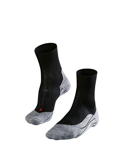 FALKE Damen Socken Laufsocken RU4 - 1 Paar, Gr. 37-38, schwarz, feuchtigkeitsregulierend, Sportsocken Running