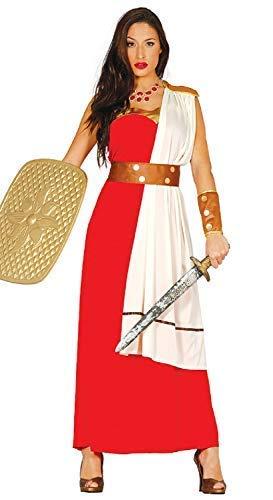 Kostüm Griechische Antike Soldat - Damen Rote Grichischer Spartan Krieger Soldaten Kämpfer Antike Historisch Kostüm Kleid Outfit UK 10-12 Eu 38-40