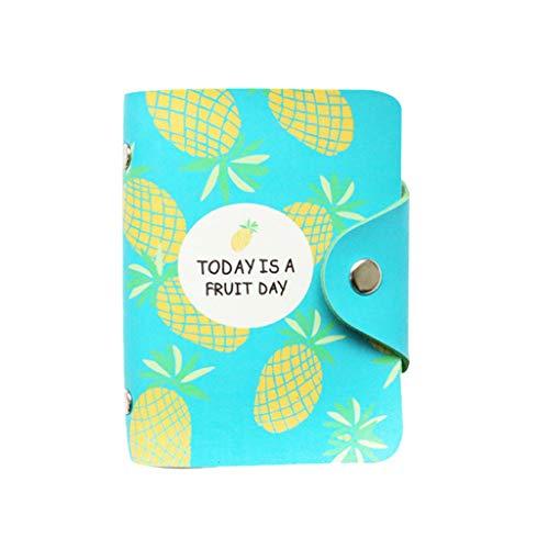 Brieftasche ledergeldbörse Männer Frauen Leder Kreditkarteninhaber Fall Kartenhalter Visitenkarte Magic Wallet mit Münzfach Geprüfter RFID Schutz Magischer Geldbeutel Geschenkbox(Blau) -