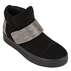 Catwalk Womens Black Synthetic Boots (2390C)- 5 UK