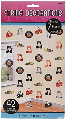 amscan, Klassische 50er-Jahre String-Dekorationen, 2,1 m (50er Musik Jahre Halloween,)