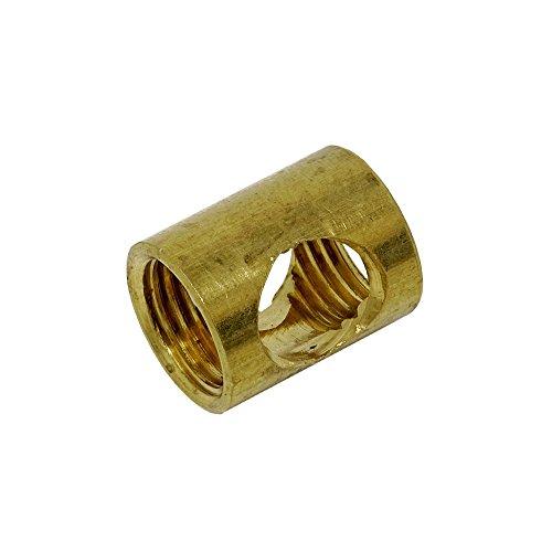 Auslass Muffe 2 Stück M10x1 ø 12x15mm seitliche Ovallöcher Röhrchen Gewinderohr Rohr Feingewinde Anschlussrohr Messing roh (Palmen 15mm)