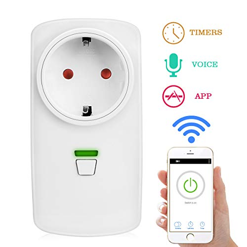 WiFi Smart Steckdose WLAN Intelligente Plug, Zaeel intelligente wireless Steckdose mit Timing-Funktion, Fernsteuerung Steuerung per iOS & Android APP, Kompatibel mit Amazon Alexa/IFTTT / Google Home