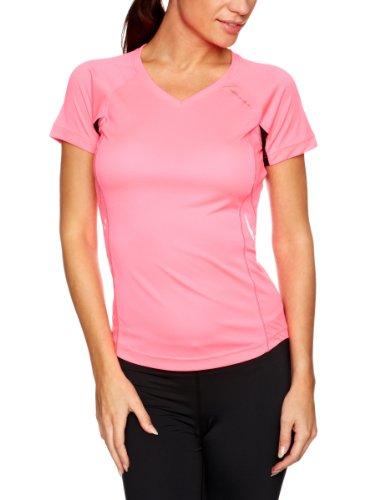 Ronhill Vizion Tee-shirt à manches courtes pour femme Rose - Flou Pink/Black